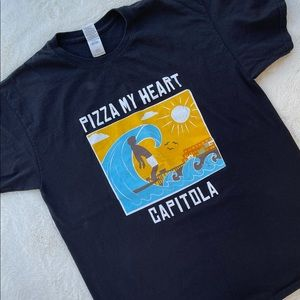 Pizza My Heart Capitola 100% Cotton T-Shirt Tee L
